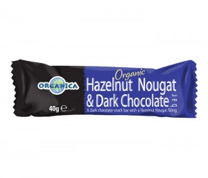 Organic Hazlenut Nougat & Dark Chocolate Bar