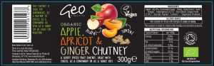 Apple Apricot Ginger Chutney label artwork