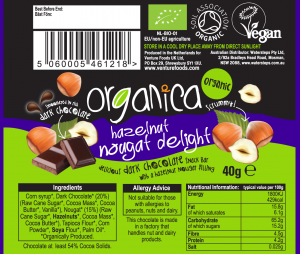 hazelnut label artwork