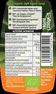 light agave label artwork