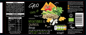 veg soup label artwork